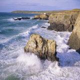 Rocks and Sea at Gwithian, Cornwall, England