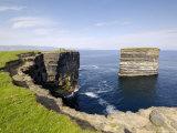 Sea Stack at Downpatrick Head, Near Ballycastle, County Mayo, Connacht, Republic of Ireland (Eire)