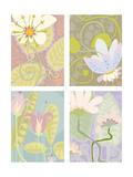 Pastel Floral Four Patch