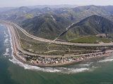 Aerial View of Highway 1 as It Meets the Shoreline, Ventura, California