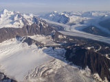 Aerial View of Harvard Glacier and Mount Marcus Baker, Alaska