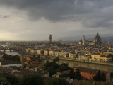 Elevated View over City from Piazzele Michelangelo, Florence, Italy