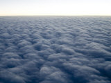 View from a Plane from 35,000 Feet over the Atlantic Ocean