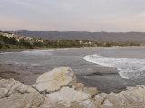 Santa Barbara City with Coastline in Foreground, California