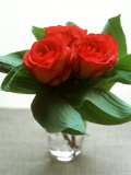 Small Bouquet with Three Red Roses