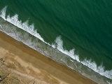 Waves Crash on the Beach North of Agadir, Morocco