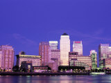 Canary Wharf and Docklands Skyline, Docklands, London, England
