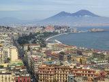 Mt. Vesuvius and View over Naples, Campania, Italy