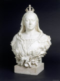 Bust of Queen Victoria in Marble, c.1888