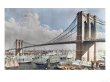 Great East River Suspension Bridge, Brooklyn, New York City, c.1883