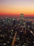 Aerial of Midtown NYC at Dusk, NY