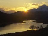 Loch Garry at Sunset, Western Highlands, Scotland