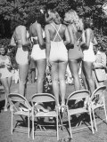 California Bathing Beauties Participating in Contest with Florida Girls