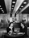 Women Drinking in Club Car Aboard the 20th Century Limited