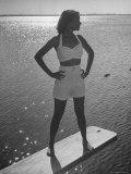 Model Tee Matthews Wearing Two Piece Bathing Suit by Jantzen
