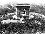 This is an Aerial View of the Arc De Triomphe