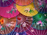 Colorful Silk Umbrellas, China