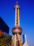 Oriental Pearl Tower (468M High) and Other Pudong Buildings, Shanghai, China