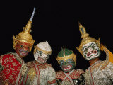 Portrait of Four Dancers in Elaborate Costume