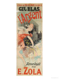 Poster Advertising the Publication of L'Argent by Emile Zola