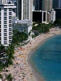 Aerial View of Waikiki Beach, Honolulu, USA