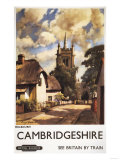 Cambridgeshire, England - Scenic Country View British Railways Poster
