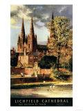 Lichfield, England - View of Lichfield Cathedral British Railways Poster