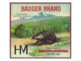 Badger Orange Label - Exeter, CA