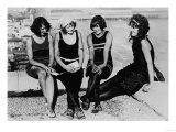 Four Women at the Beach Photograph - Atlantic City, NJ