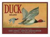 Duck Lemon Label - San Dimas, CA