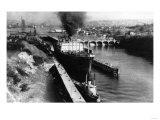 World Famous Ballard Canal Locks in Seattle, WA Photograph - Seattle, WA