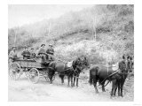 Wells Fargo Express Company Wagon and Guards Carrying Gold from Mine Photograph - Deadwood, SD
