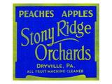 Stony Ridge Orchards Peaches and Apples