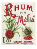 Rhum fin Melia Garanti Naturel Brand Rum Label