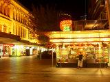 Juice Bar, Queen Street Mall at Night, Brisbane, Queensland, Australia