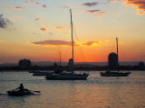 Sunset and Yachts, The Broadwater, Gold Coast, Queensland, Australia