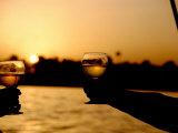Sunset Toast on the Nile, Luxor, Egypt