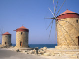 Old Windmills of Rhodes, Greece