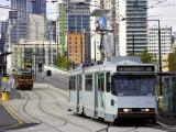 Trams, La Trobe Street, Melbourne, Victoria, Australia