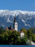 Bled Island and Julian Alps, Lake Bled, Slovenia