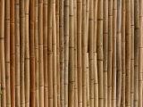 Close-Up of Rustic Brown Bamboo Mat