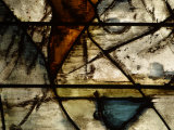 Close-Up of Abstract Pattern in Stained Glass