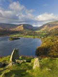 Grasmere Lake and Village from Loughrigg Fell, Lake District, Cumbria, England