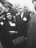 Mrs. Martin Luther King Jr. with Benjamin Spock Protesting the War in Vietnam