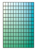 Squares with Gradated Green to Blue