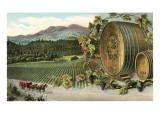 Vineyard with Horse-Drawn Cart