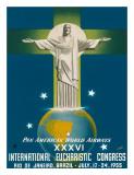 Pan American Airways Rio de Janeiro, Brazil, Christ on the Cross, c.1955