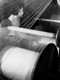 Woman at Loom at American Woolen Mills