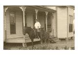 Vintage Farmhouse with Horses
