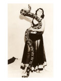 Circus Lady with Large Snake